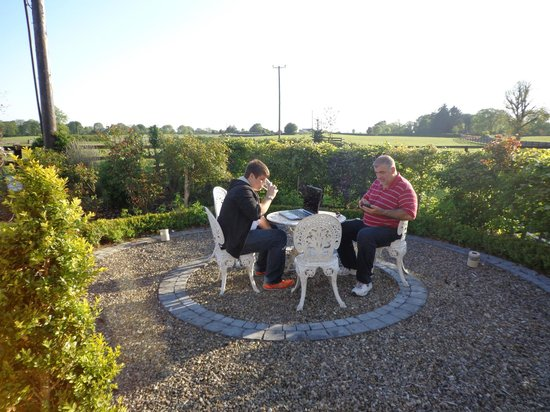 Cahergal Farmhouse: Patio at B and B