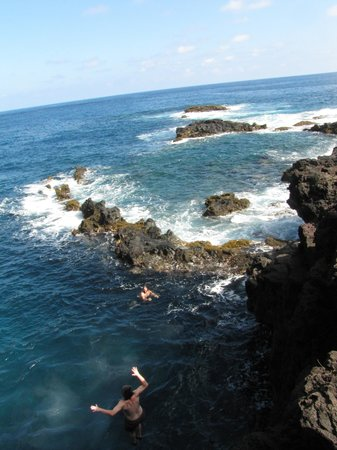 Maui Easy Riders : Jumping off a cliff into the ocean!