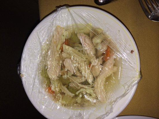 Gaylord Opryland Resort & Convention Center : 3 chicken chunk soup.. No noodles but something white had blue spots?