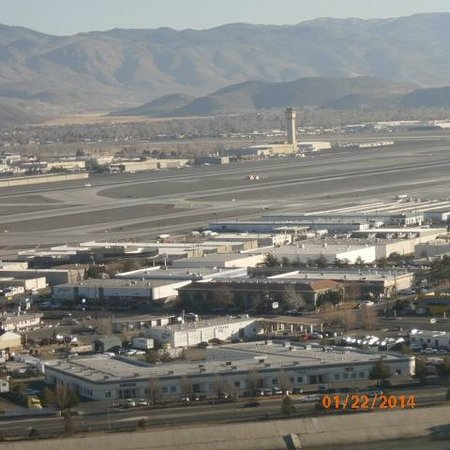 Grand Sierra Resort and Casino: full view of airport from 23rd floor