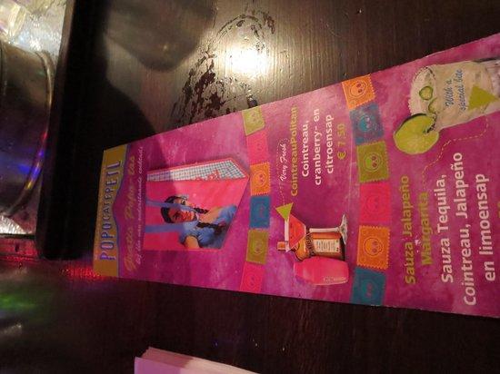 Popocatepetl: the drink menu