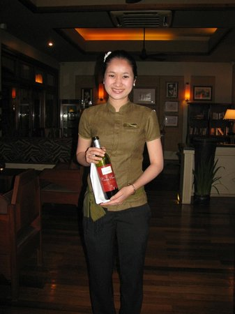 Victoria Angkor Resort & Spa: My favorite waitperson, always smiling and happy to see you