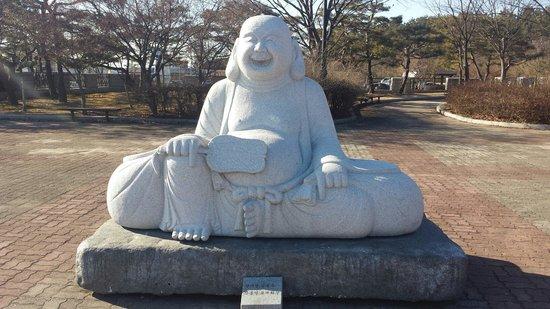 Miruksa Temple Site: Buddha statue