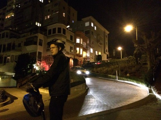 City Segway Tours San Francisco : Special evening Tour with Devon down Crooked Road.