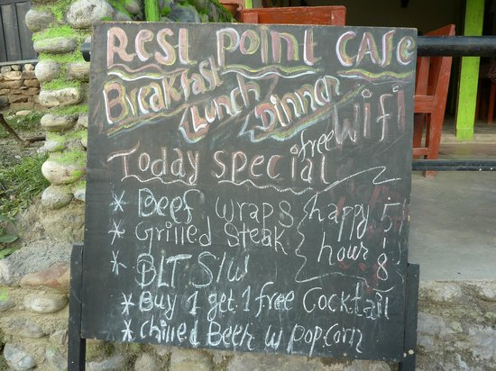 Rest Point Cafe & Bar: Menu