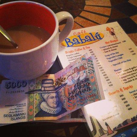 Cafe Babalu: Their menu