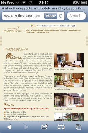 Railay Bay Resort & Spa : Bogus web site