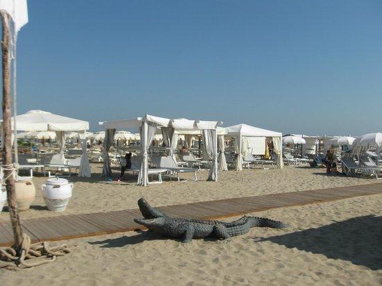Riccione offre grande spiaggia di sabbia fine e ottimi bagni - Foto ...