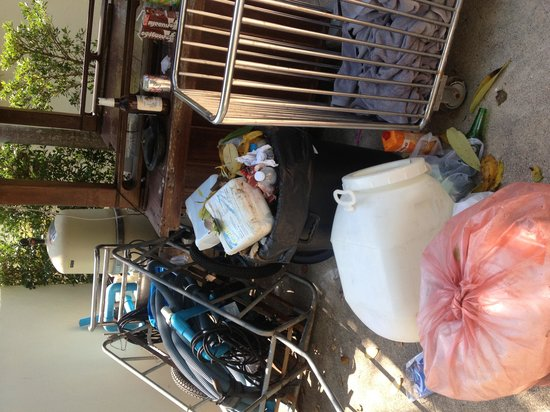 Railay Bay Resort & Spa : Rubbish near the back pool 2 days old