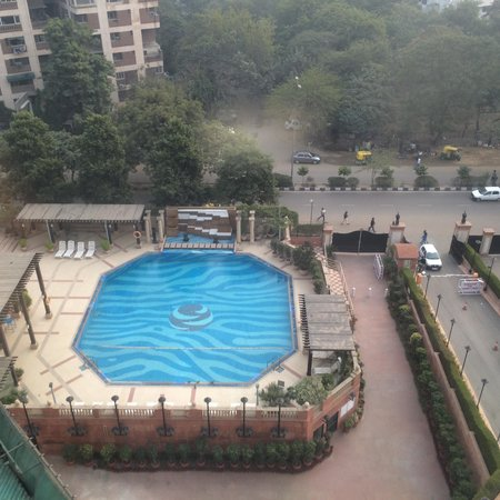 The Suryaa New Delhi : Pool view from our Room.