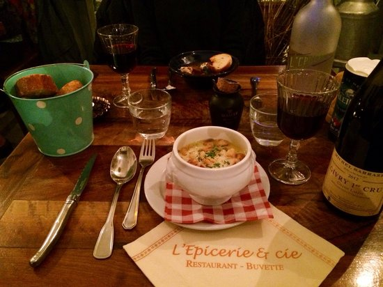 L'Epicerie & Cie : Soup with wine and snail