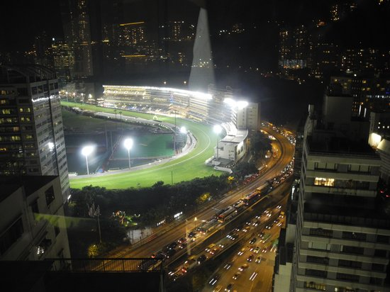 Butterfly On Morrison : View of the Happy Valley race course at night