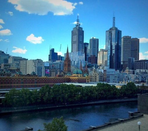 The Langham: Our glorious Melbourne view from our river room