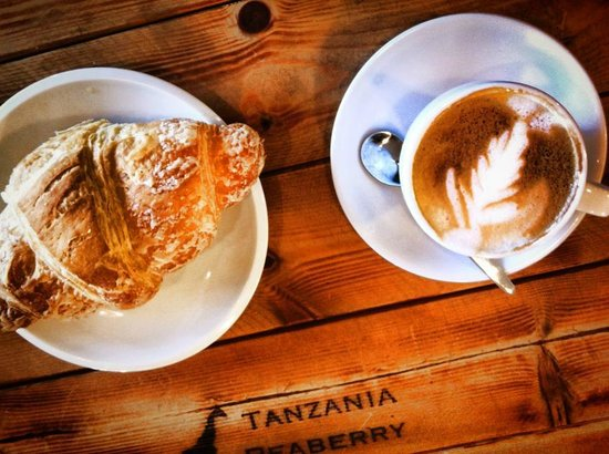 Cafe Kilimanjaro : Hot, fresh croissants and a classic cup of Kilimanjaro