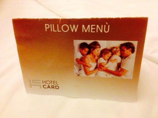Hotel Card International: pillow menu