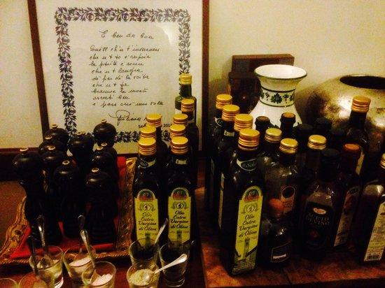 Trattoria San Giovanni: aceti ed olii