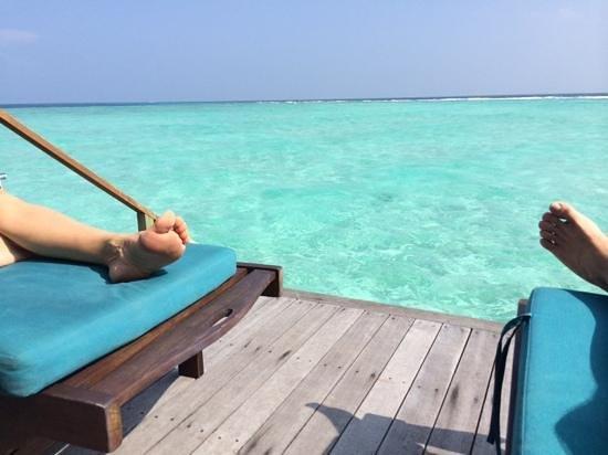 Veligandu Island Resort & Spa: sur terrasse