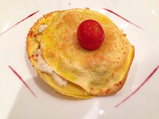 Rizzi Aquacharme Hotel & Spa: Lasagne bianche con funghi
