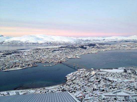 Radisson Blu Hotel, Tromso : view of the ciry from the cable car station which overlooked the hotel across the water