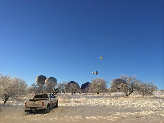 Turkey Hot Air Balloons: Taking off