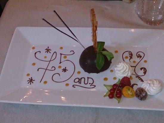 Le Bistrot d'Aurelie: Dôme au chocolat spécial anniversaire !!