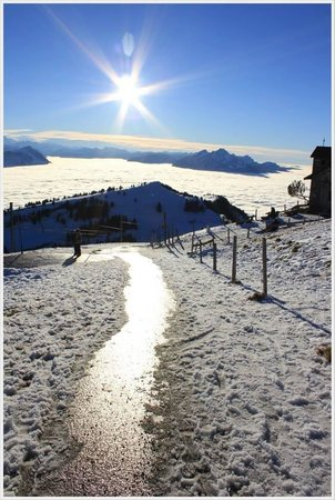 Mt. Rigi: When the sun meet the mountain