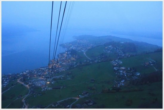 Mt. Rigi: The view right after the fog!
