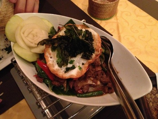Thai Star: Phad Grapau with beef