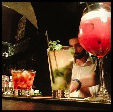 The cocktail bar: fantasic cocktails