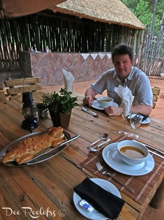 Bushman/San Village Tented Camp: Dinner table