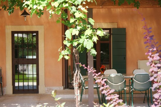 Amarone Brunelli - Wines since 1936: Patio of the winery