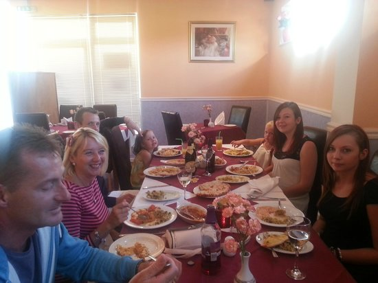 Monsoon Indian Restaurant & Takeaway: Customers with their family.