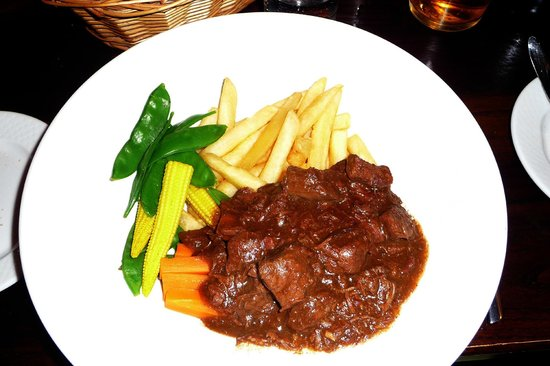 Marine Hotel: Beef & ale stew.  main course