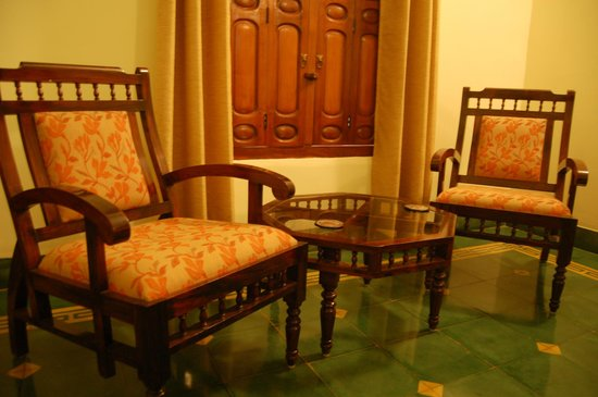 The Bangala: The sitting area in the bedroom