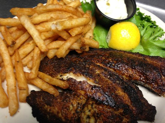 Riverside Roadhouse: Blackened Tilapia...one of our favorites!