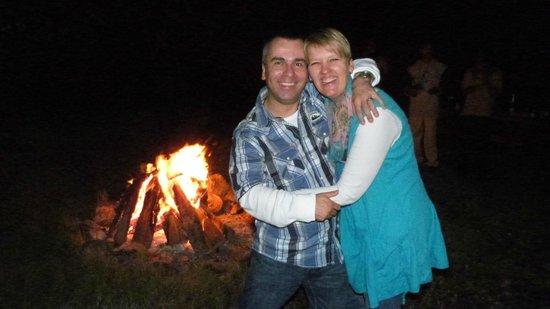 Meru View Lodge : Silvester am Lagerfeuer