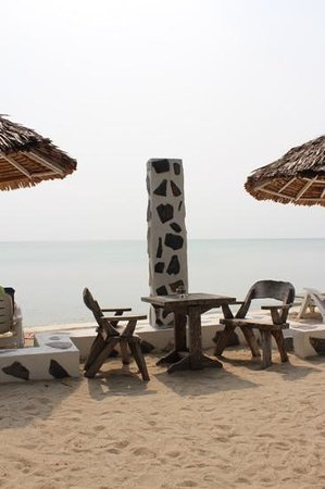 Milky Bay Resort Restaurant: Beach View