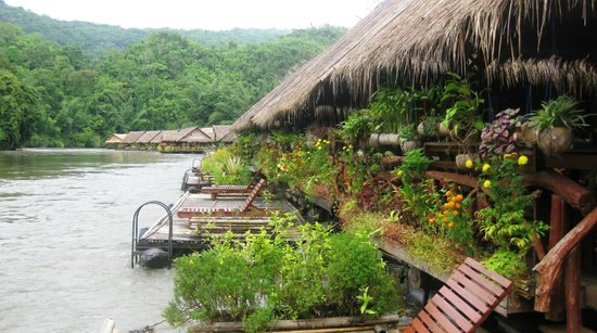 River Kwai Jungle Rafts Resort: from our room