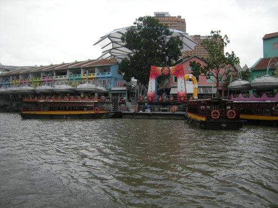 Clarke Quay from the river
