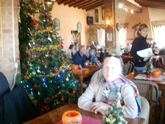 Coll de Rates: Xmas tree in restaurant.