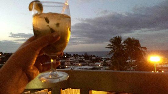 Hotel Rosa del Mar: En el balcón