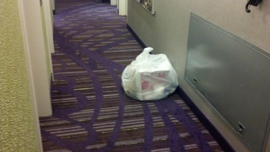 SpringHill Suites New York Midtown Manhattan/Fifth Avenue: garbage left in hall for two days