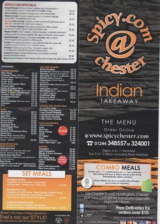 Spicy: menu pg 1