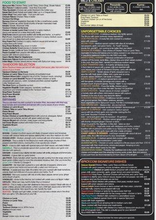 Spicy: menu pg 2