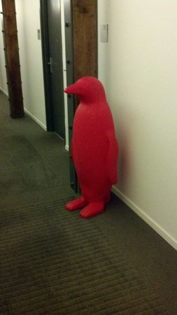 21c Museum Hotel Louisville: Red penguins, so cute