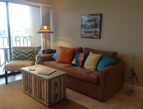 Cabana 202: living area at 105 Cabana