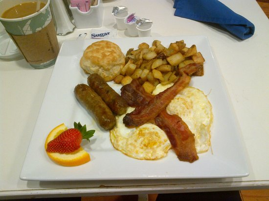 Hotel Indigo Houston at the Galleria: Nice Hearty Breakfast