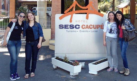 Hotel Sesc Cacupe : chegada ao hotel
