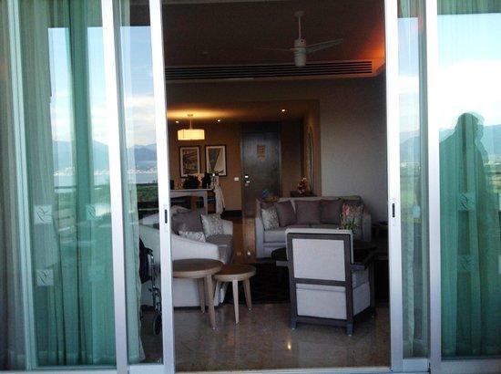 Grand Luxxe at Vidanta Nuevo Vallarta: View into unit from deck