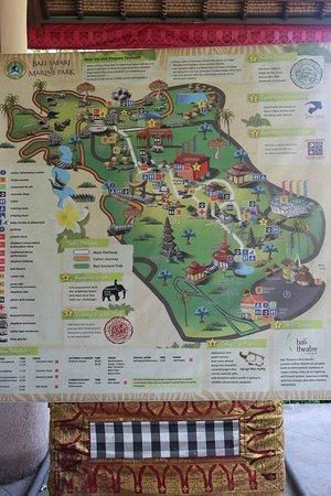 Bali Safari & Marine Park : Map